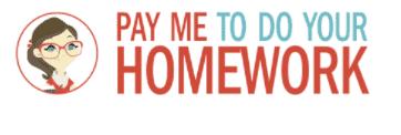 PAY ME TO DO YOUR HOMEWORK logo