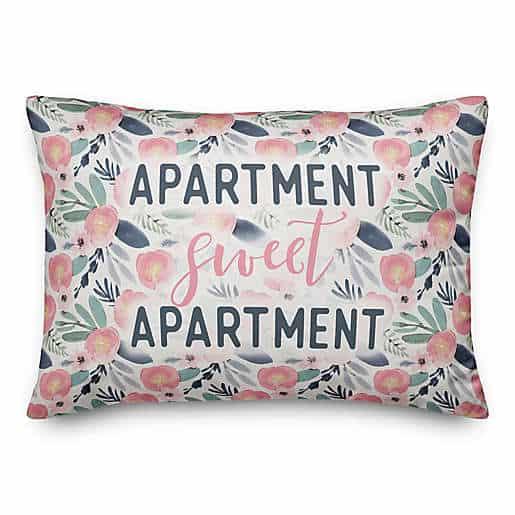 Apartment Sweet Apartment 14x20 Throw Pillow