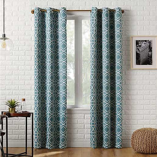 Sun Zero™ Barnett Trellis Grommet Room Darkening Window Curtain Panel (Single)