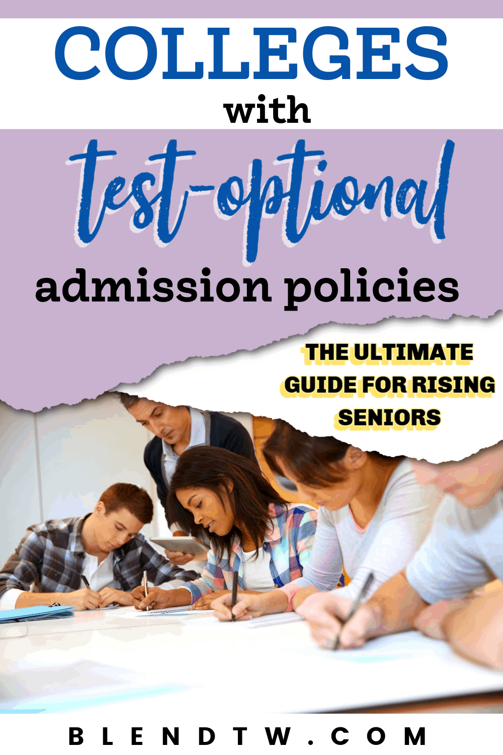 colleges with test optional admission policies
