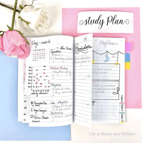 a colorful notebook