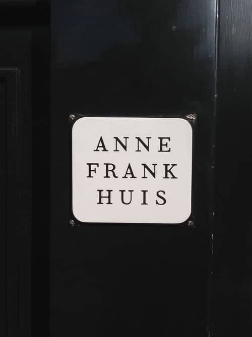 Anne frank Huis sign