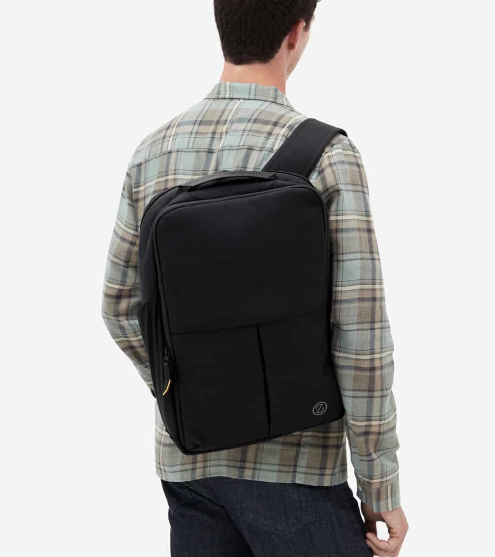Men's ZERØGRAND Slim Convertible Backpack in Black | Cole Haan