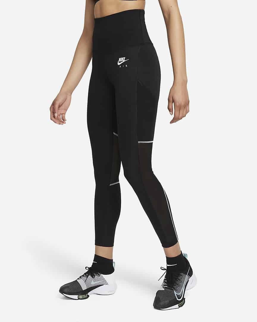 Nike Air Dri-FIT Women's Fold-Over Waist 7/8 Running Leggings. Nike.com